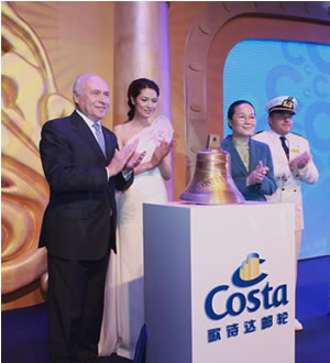 Pier Luigi Foschi – Costa Cruises, Godmother Mary Ma and Vice Mayor Ms. Zhao Wen