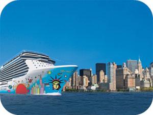 New York-themed Norwegian Breakaway will welcome her Miami-themed sister Norwegian Getaway several months earlier than planned. Image: Norwegian Cruise Line