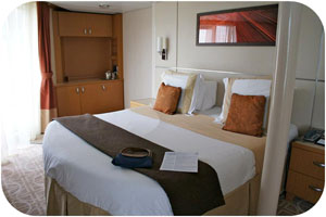 Our spacious Sky Suite on Deck 8 aft