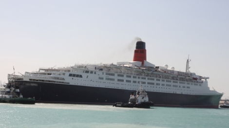The QE2 farewells Dubai but not before a multi-million dollar refurbishment!