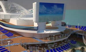 Royal Princess' movie screen will be thirty percent larger than her sister ships. Image: Princess Cruises