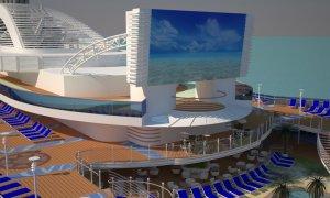 Royal Princess' movie screen will be thirty percent larger than her sister ships. Image: Princess Cruises