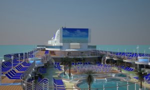 The top deck will be a hub for daily and nightly entertainment. Image: Princess Cruises