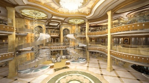 The largest atrium of any Princess ship. Image: Princess Cruises