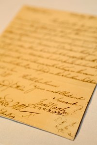 A handwritten letter penned by Captain James Cook. Image: Cunard