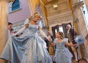 "Cinderella greets her ""mini-me"" at Doge's Palace, Venice. Image: David Roark"