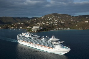Emerald Princess in St. Thomas. Photo Credit: Princess Cruises