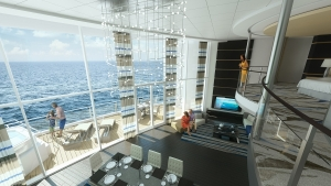 The Royal Loft Suite offers unprecedented views and more than a little bit of luxury. Photo Credit: Royal Caribbean