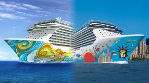 Wonder which hull design Norwegian Breakaway Plus II will feature! Photo Credit: popularcruising.com