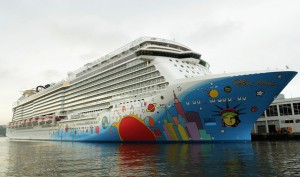 Norwegian Breakaway in New York Harbour. Photo Credit: Dimitrios Kambouris, Getty Images for Norwegian Cruise Line