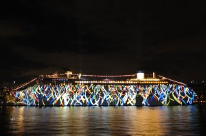 Pacific Pearl set to light up Sydney Harbour. Photo Credit: P&O Cruises