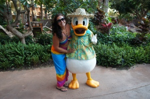 Cruise in Review Editor Natalie gets up close and personal with Donald Duck!