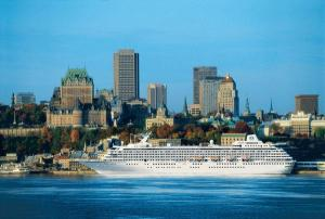 Crystal Symphony in Québec City. Photo Credit: Crystal Cruises