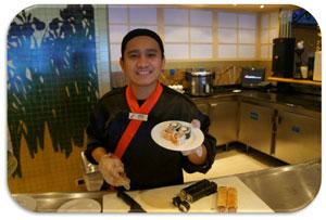Sushi Bar goodness aboard Carnival Liberty