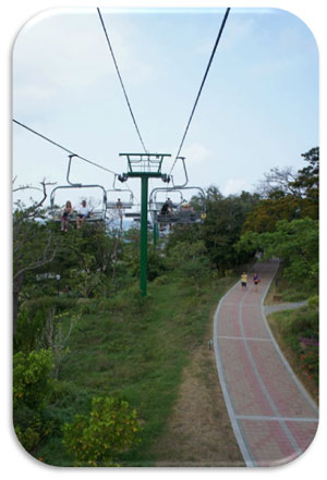 Ashley and Josh choose to walk to Mahogany Beach...our choice...the chairlift