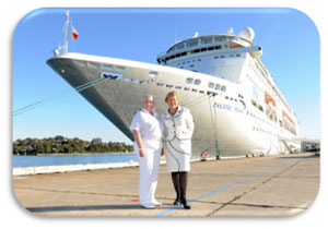 Captain Breton and Carnival Australia CEO Ann Sherry