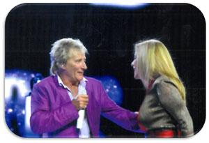 Edie and Rod Stewart