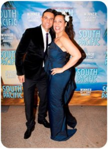 "Lyndon with ""South Pacific"" co-star Kate Ceberano"