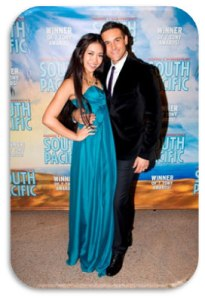 "Celina Yuen and Lyndon - ""South Pacific"" Sydney opening night."