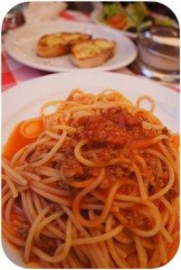 La Trattoria serves up some traditional spaghetti bolognese