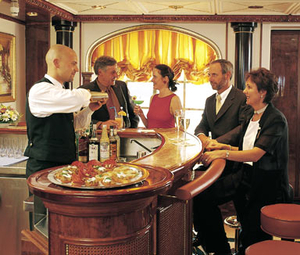 Enjoy a drink in The Lounge aboard Sea Cloud II. Photo Credit: Sea Cloud Cruises