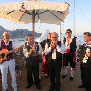 Local Italian entertainers aboard The Moana. Photo Credit: Paul Gauguin Cruises