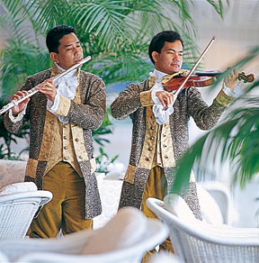 Mozart Tea performers.  Photo Credit: Crystal Cruises