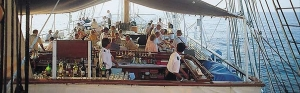On deck is the place to be aboard Sea Cloud. Photo Credit: Sea Cloud Cruises