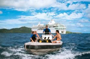 Scuba diving excursion. Photo Credit: Paul Gauguin Cruises