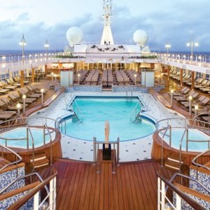 Seven Seas Voyager Pool Deck.  Photo Credit: Regent Seven Seas Cruises