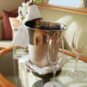 Welcome bottle of champagne.  Photo Credit: Regent Seven Seas Cruises