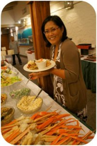 Tracy from Poi Planet relishes in the delectable Hawaiian fare