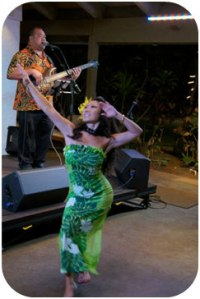 What music performance would be complete without a beautiful hula dancer?